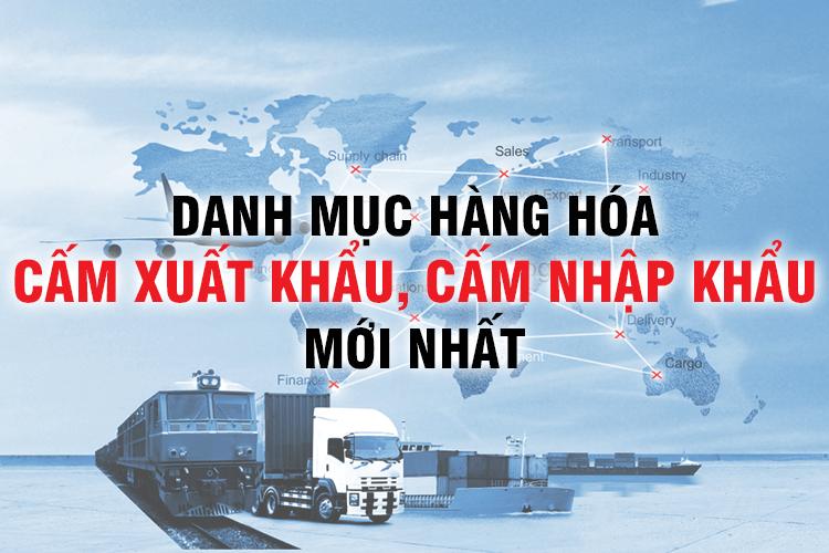 danh mục hàng hóa cấm nhập khẩu